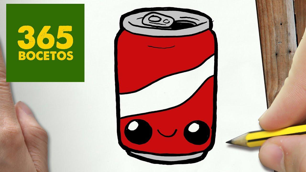 Como Dibujar Lata De Cola Kawaii Paso A Paso Dibujos Kawaii Faciles How To Draw A Cola