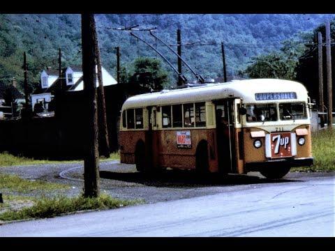 Johnstown, PA Trolleybus Scenes - 1964