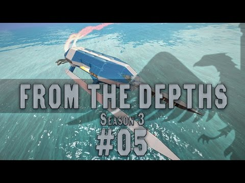 From the Depths #05 BUILDING [Cargo Hydrofoil] Season 3 - Let's Play
