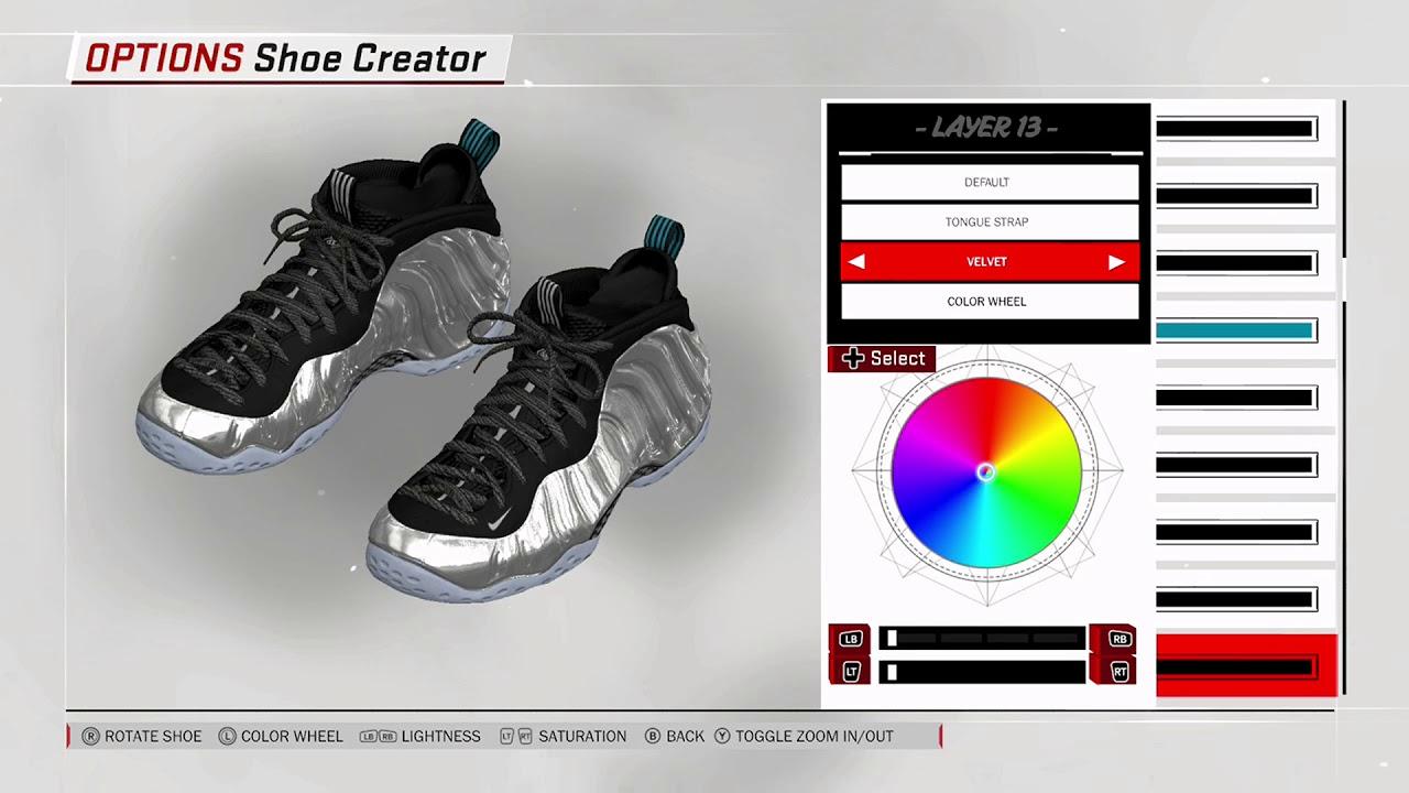 NBA 2K18 Shoe Creator - Nike Foamposite One