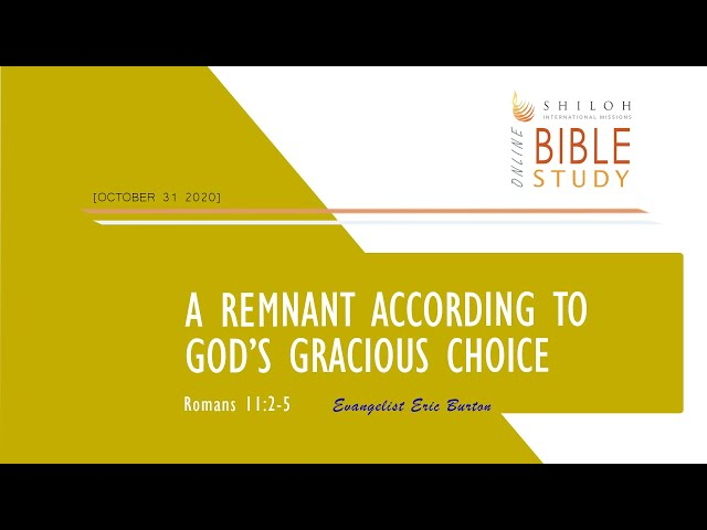 A Remnant According to God's Gracious Choice