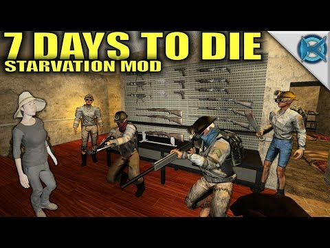 7 Days to Die Modded | Farmer & Weapon Workbench | MP Let's Play Starvation Mod | Alpha15 E27