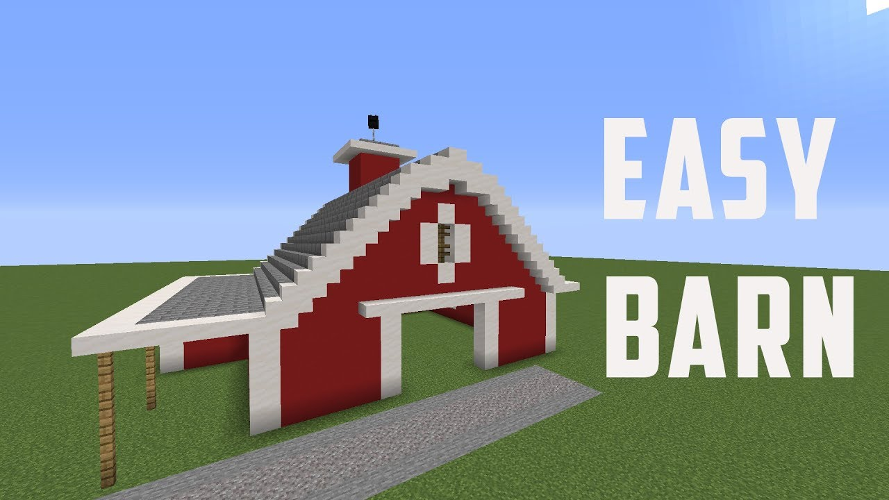 MineCraft Tutorial: How to Build an Easy Barn in MineCraft ...