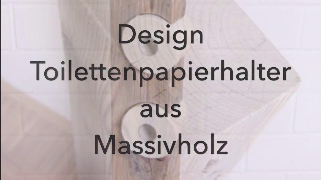 Toilettenpapierhalter Aus Massivholz Toilettenpapier Halter Aus Holz
