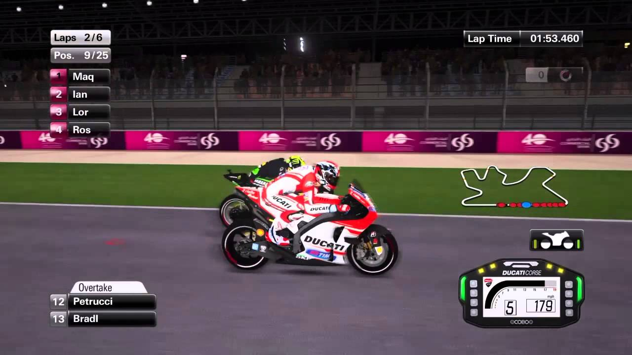 MotoGP 15 Andrea Dovizioso - Qatar Losail - With commentary - YouTube