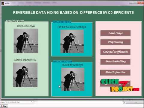 Final Year Projects | Reversible Data Hiding Based on Histogram Shifting Using Difference