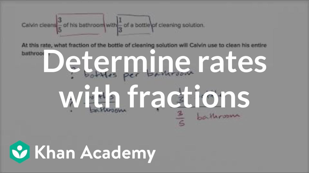 how to find unit rate khan academy
