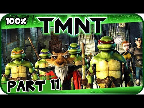 TMNT (2007 Movie Game) Walkthrough Part 11 - 100% (X360, PC, PS2, Wii) O Brother Where Art Thou