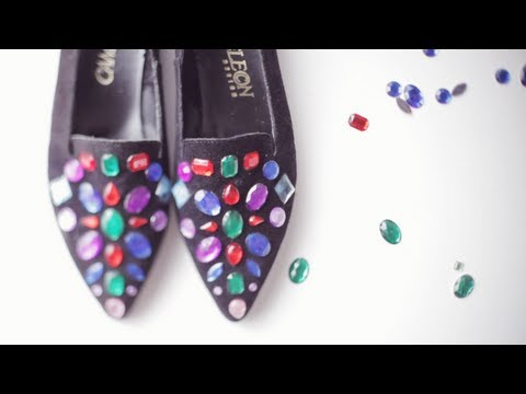 DIY gem loafers inspired by Jeffrey Campbell