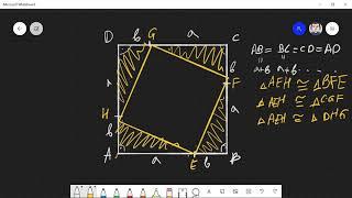 Доказателство на Питагоровата теорема (eee.bg)
