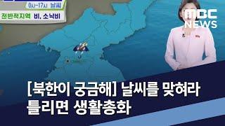 [북한이 궁금해] 날씨를 맞혀라 틀리면 생활총화 / M…