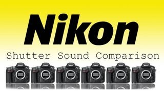 Comparison of Nikon Burst Shutter Sounds