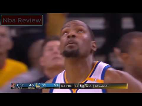 Kevin Durants Amazing Circus Shot Cleveland Cavaliers vs Golden State Warriors (Game #2) NBA Finals