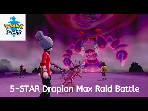 Pokemon Sword 5-Stars Max Raid Battle - Drapion