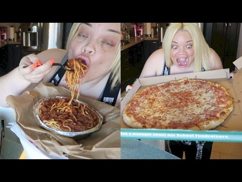 GIANT PIZZA + PASTA EATING SHOW! (MUKBANG) | WATCH ME EAT