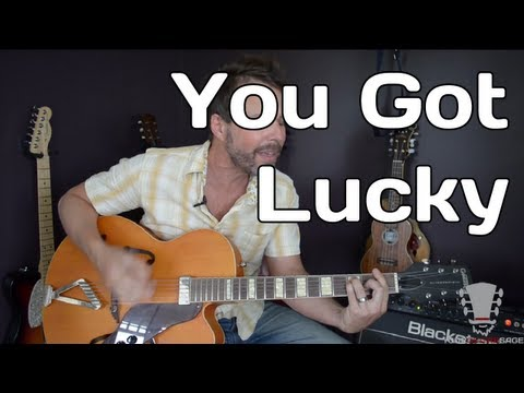You Got Lucky by Tom Petty - How To Play - Guitar Lesson