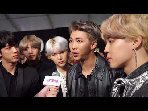 BTS interview with Liam McEwan at the American Music Awards