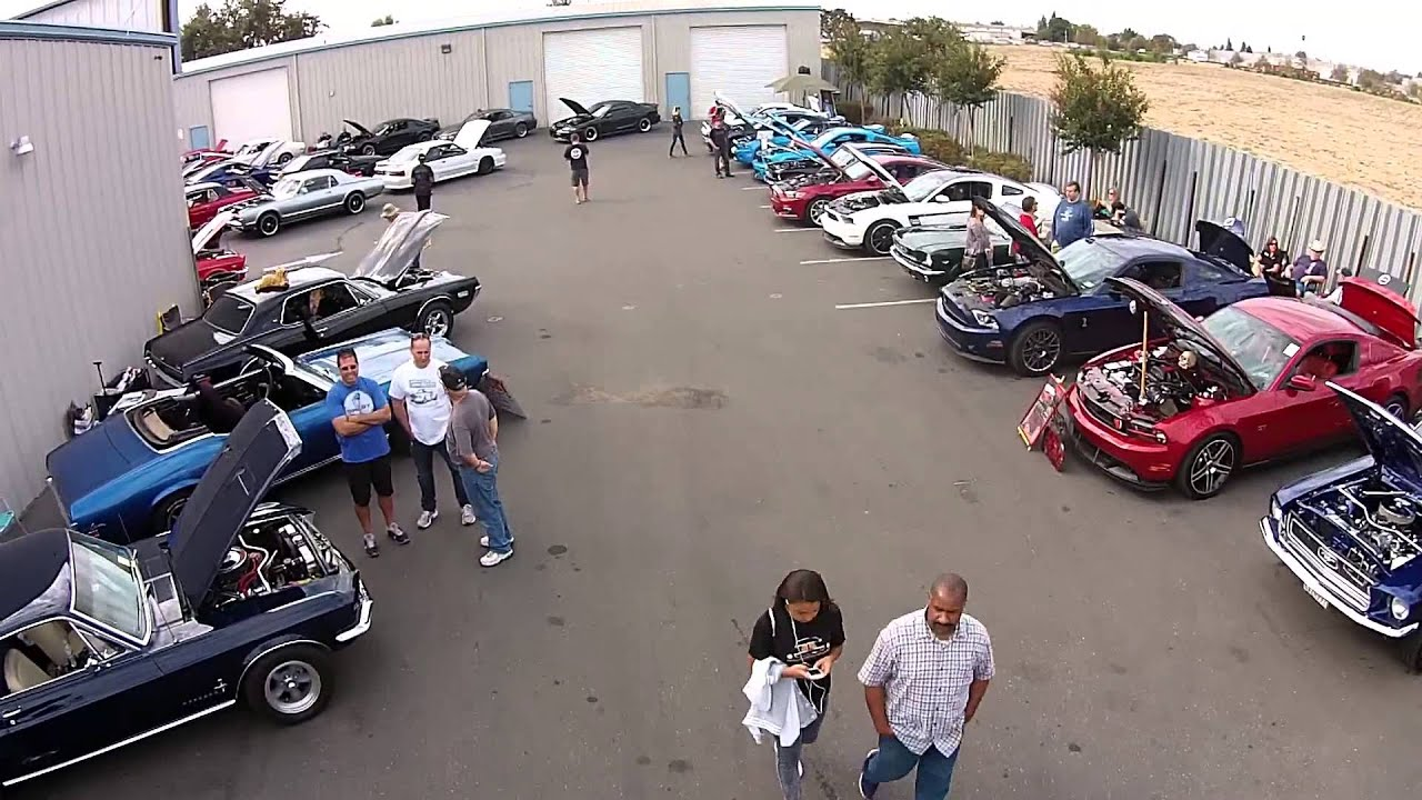 Mustangs plus october 17th 2015 car show drone footage pt 2