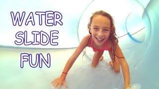 Carla Underwater Water Slides fun