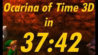 The Legend of Zelda: Ocarina of Time 3D Any% Speedrun in 37:42 [World Record][Post Commentary]