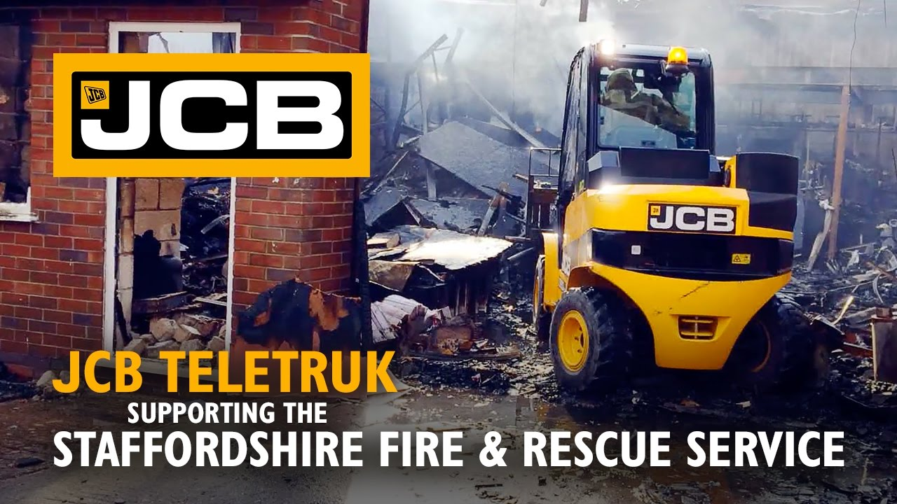 JCB Teletruk Supporting the Staffordshire Fire and Rescue Service