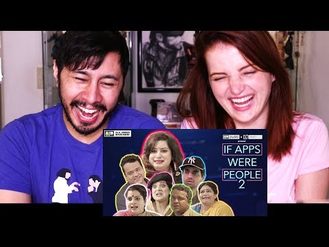 AIB: IF APPS WERE PEOPLE 2 | Reaction w/ Olina Fomina!