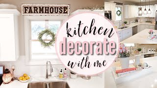 FARMHOUSE KITCHEN SPRING DECORATE WITH ME | FARMHOUSE DECOR | SPRING DECORATING | FARMHOUSE STYLE