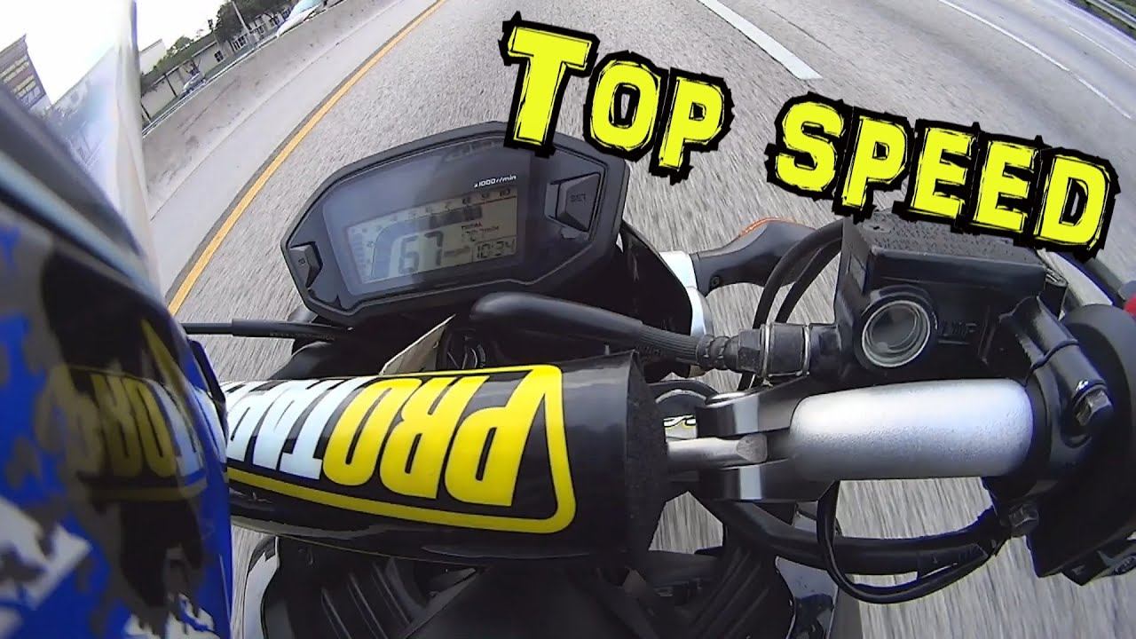 2015 Honda Grom >> Honda Grom On the Highway First ride and top speed. MSX125 - YouTube