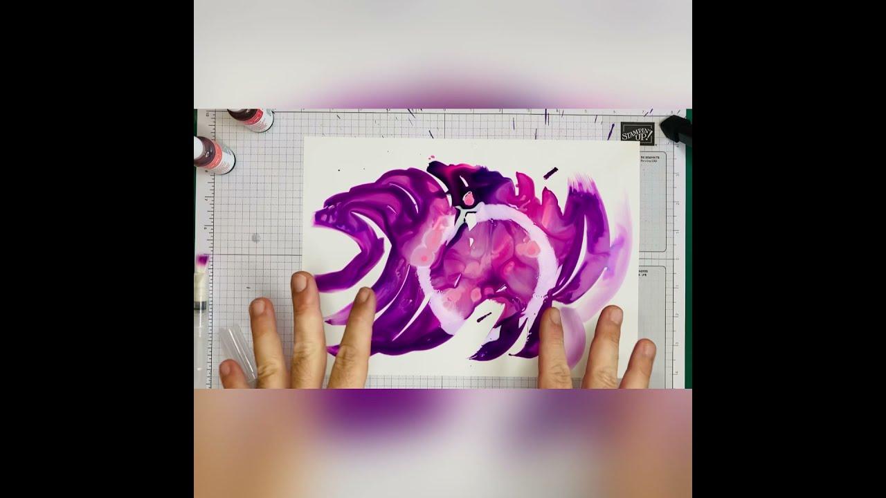 Hintergründe gestalten mit wasserbasierter Tinte und Yupo-Papier