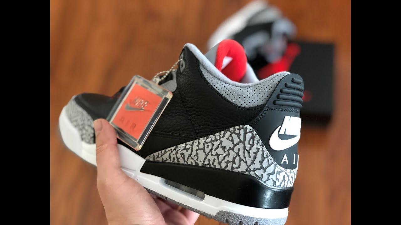 5617de0d24d58c Unboxing the Jordan Brand Black Cement 3  Sixty Second Kicks - YouTube