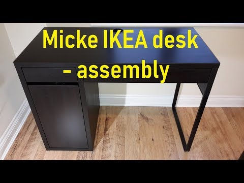 Ikea Micke desk assembly - YouTube