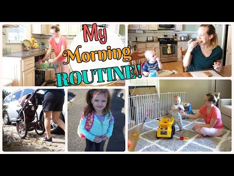 My Morning Routine! | FALL 2017 | Stay at Home Mom with 2 Kids | Mommy Etc