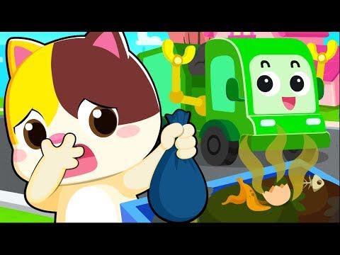 세균들 안녕!  쓰레기차 출발~|생활습관|소방차동요|고양이송|생활동요|안전교육|베이비버스 인기동요모음|BabyBus