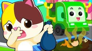 세균이 쓰레기차를 타고 놀러 가요|소방차동요|고양이송|생활동요|안전교육|베이비버스 인기동요|BabyBus
