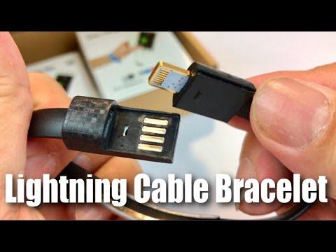 Sharpalin 8in Mini Short Flat Bracelet Charging Data Usb Lightning