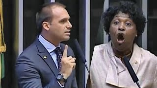 ➜ Benedita ataca Bolsonaro, e Eduardo responde à altura