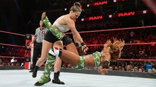 WWE RAW August 6 2018 RONDA ROUSEY vs. ALICIA FOX - WWE RAW 8/6/18