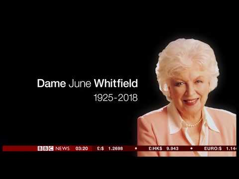 June Whitfield passes away (1925 - 2018) (UK) - BBC News - 30th December 2018