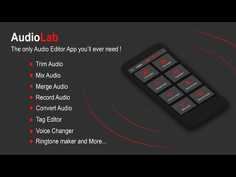 AudioLab: Best Audio Editor app for Cut, Merge, Mix, Extract, Convert, tag edit, Recording & more...