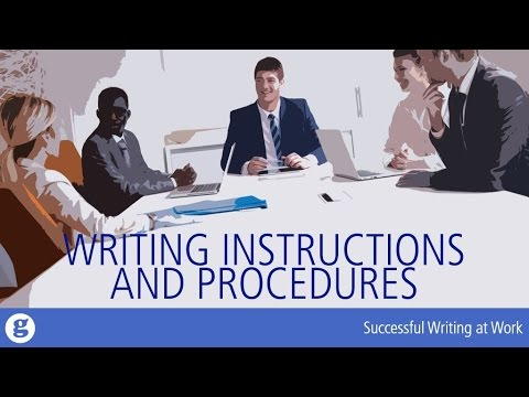 Writing Instructions and Procedures