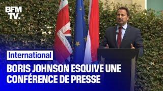 Boris Johnson esquive une conférence de presse, laissant le Premier ministre luxembourgeois seul