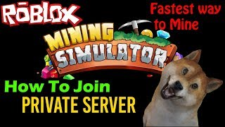 Roblox How to Join VIP Server And Fastest Way to Mine