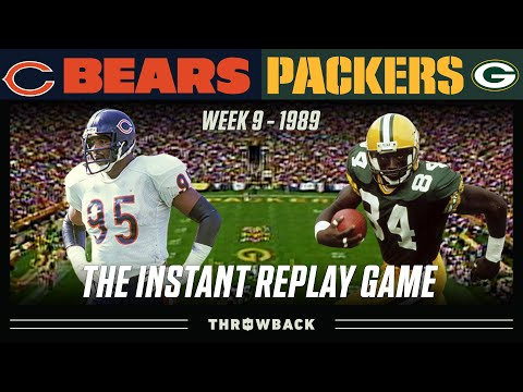 [NFL Throwback] The Original Instant Replay Game (Bears at Packers, 1989 Week 9)