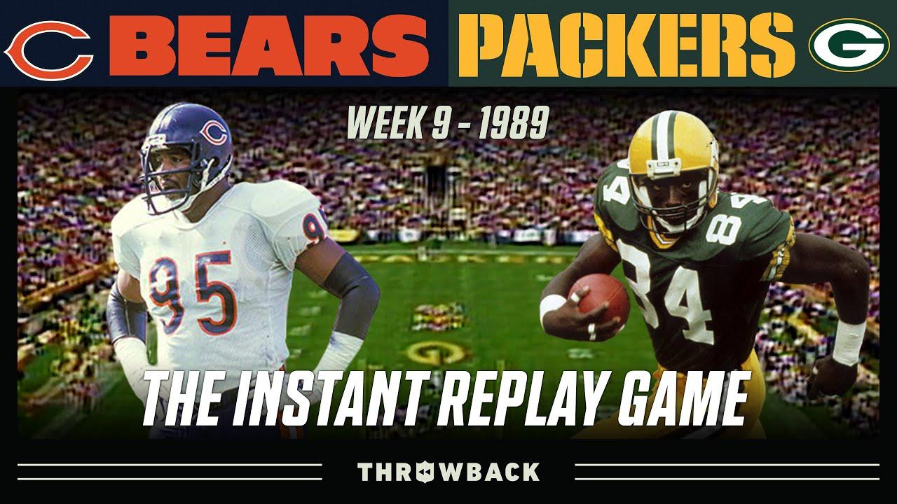 The ORIGINAL Instant Replay Game! (Bears vs. Packers 1989, Week 9)