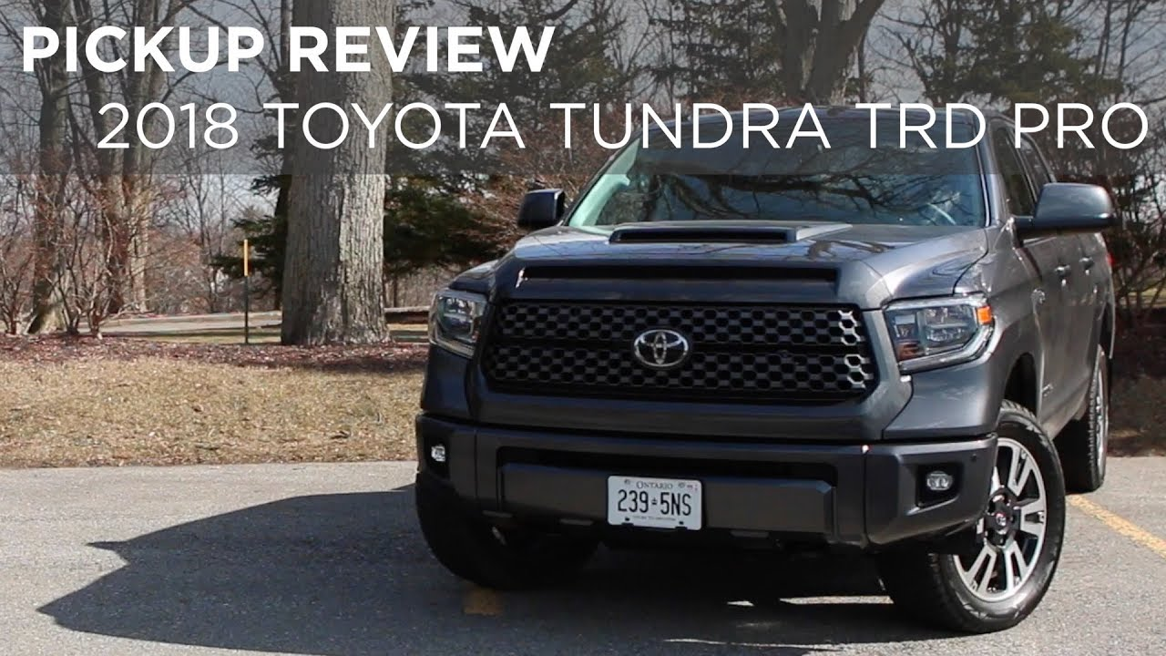 Pickup Review 2018 Toyota Tundra Trd Sport Driving Ca