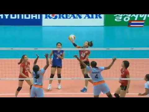Asian Games 2014 Women Volleyball Thailand VS India : Sep 24th, 2014 : Full Match