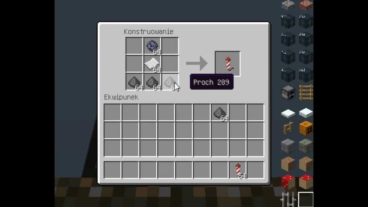 Jak Zrobić Fajerwerki W Minecraft Youtube