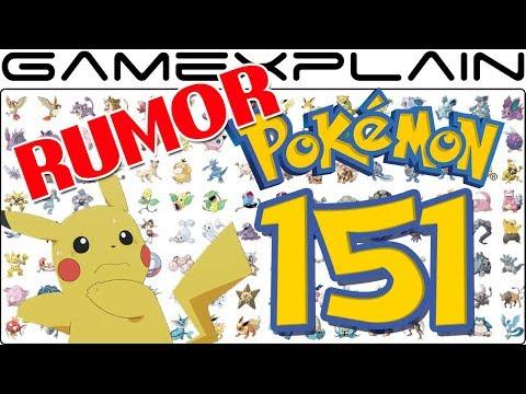RUMOR - Only Original 151 Pokémon Featured in Pokémon Let's Go Pikachu & Eevee!