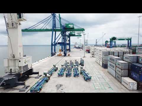 Gabon : le nouveau Port développé par GSEZ enfin opérationnel .