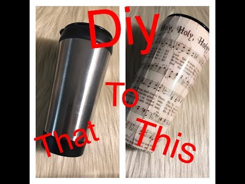 How to make a paper tumbler cup (Epoxy)
